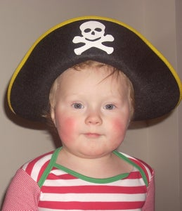 Resize a Pirate Hat to Fit a Baby or Small Child.