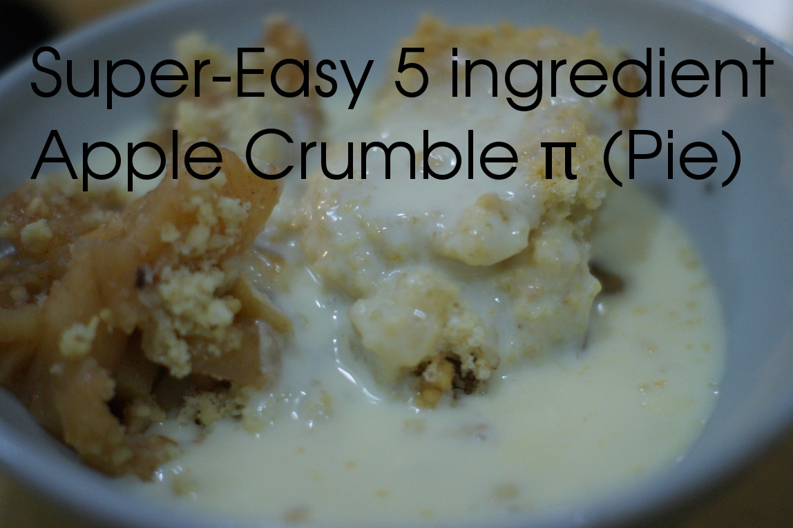 Picture of Super-Easy 5 Ingredient Apple Crumble Pi(e)