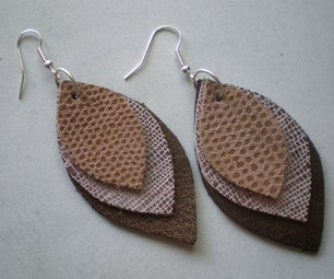 Leather Earring Tutorial