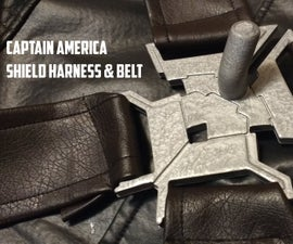 Captain America Shield Harness and Belt