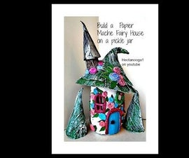 DIY PIXIE-fairy HOUSE FROM a PICKLE JAR