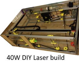 DIY 40W CNC Laser cutter, from bad to better with 3D printing