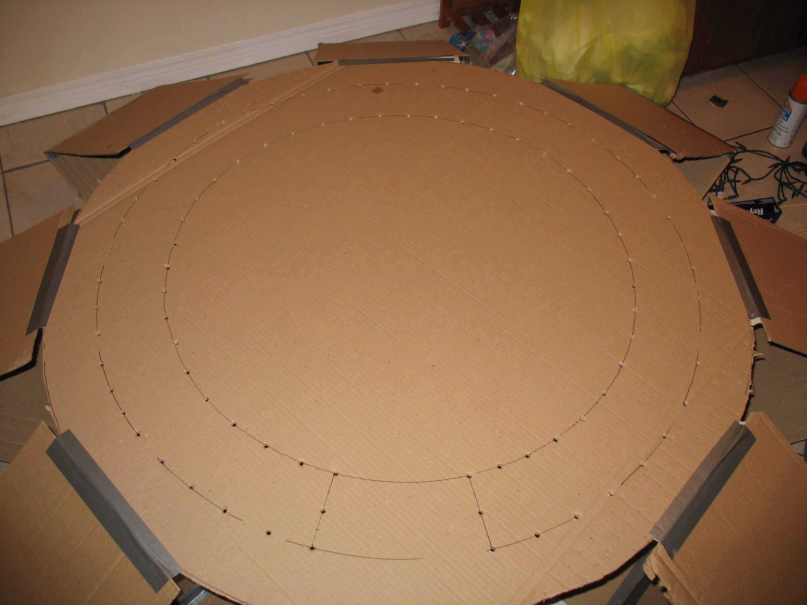 Picture of Tape on the Wings and Make a Light Pattern on the Top