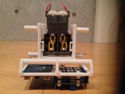 Mount the Dual Motor Gear Box