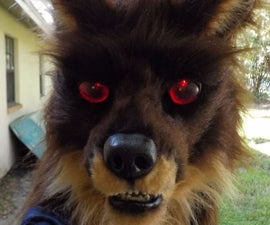 Realistic Werewolf Mask with Light-Up Eyes