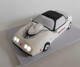 Trans Am Cake w/ Working Headlights