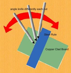 A Note About Cutting Copper Clad Board