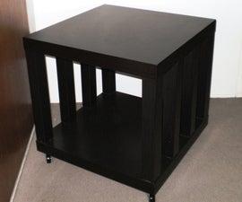 Ikea Hack: Rolling Storage Lack Coffee/Side Table