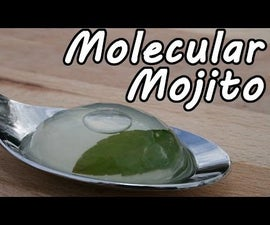 Molecular Mojito Cocktail -  Inverse spherification