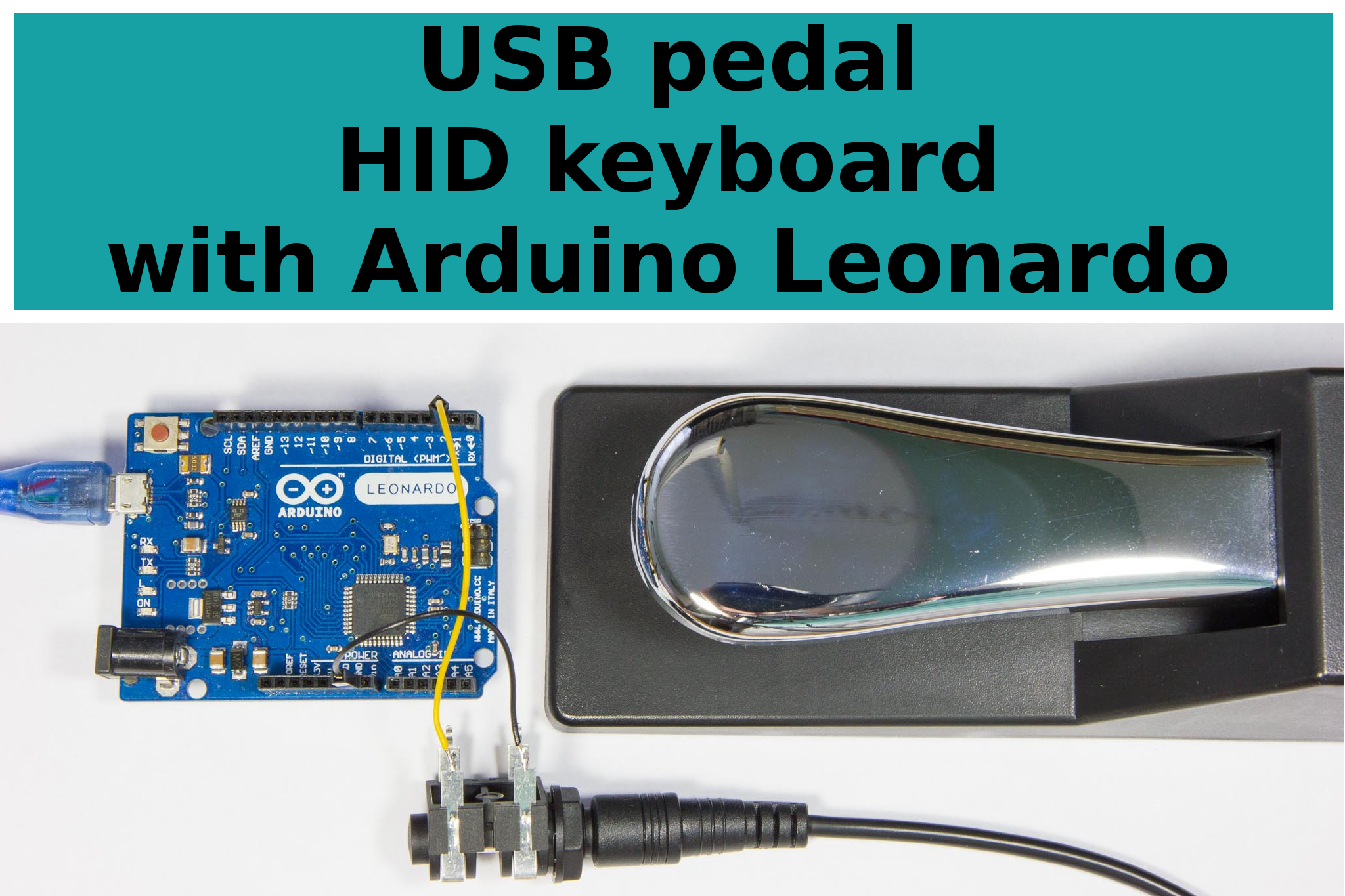 Picture of USB Pedal HID Keyboard With Arduino Leonardo