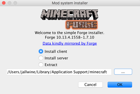 Minecraft Forge and the SerialCraft Mod
