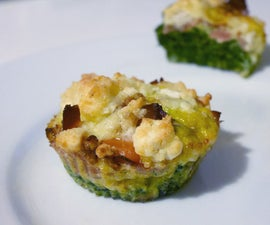 Savory Muffins - Best You Can Do With Spinach, Goat Cheese, Eggs and Bacon