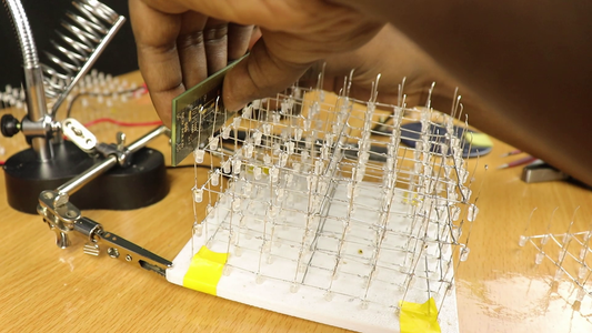 Assembling the Structure of LED Cube