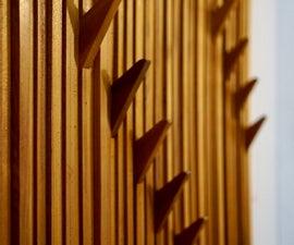 Textured Cedar Coatrack