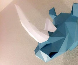 Faceted Rhino Trophy