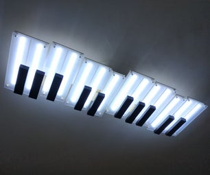 Piano Shaped Ceiling Lamp
