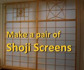 Make a Pair of Shoji (Japanese Sliding) Screens