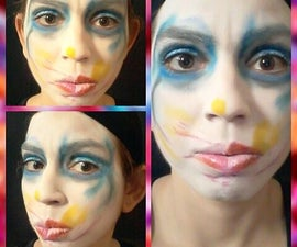 Lady Gaga Applause Face Paint
