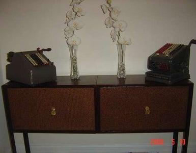 Vintage Speaker Storage Unit