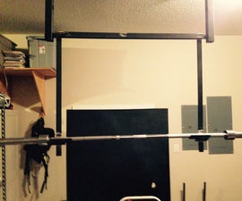 Squat Rack for a Pull Up Bar
