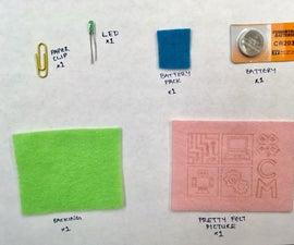 Simple Sewn Circuit