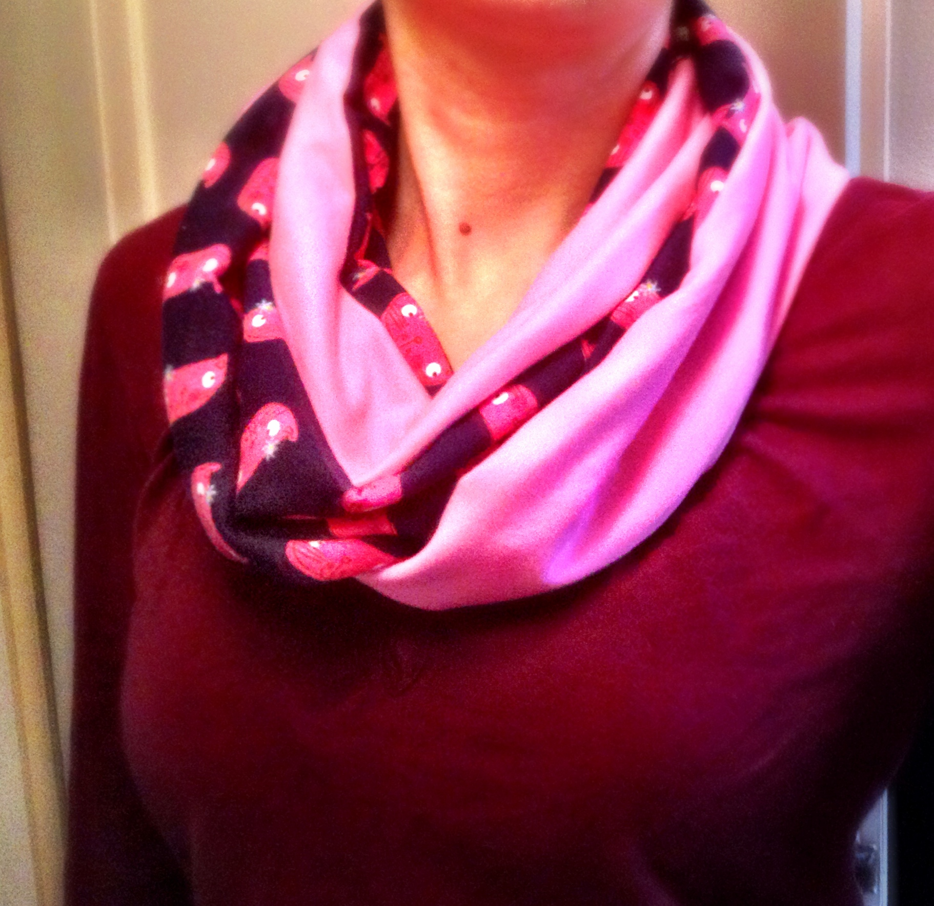 Picture of Quick & Cute Infinity Scarf With Cats