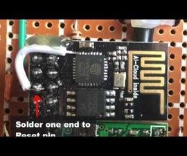 Enable DeepSleep on an ESP8266-01