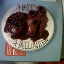 Halloween heart cake
