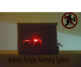 Glowing LED Burglar Alarming System