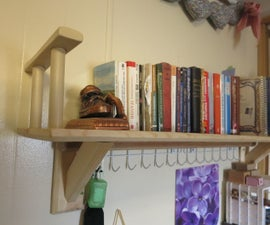 Simple Wall-Mounted Bookshelf