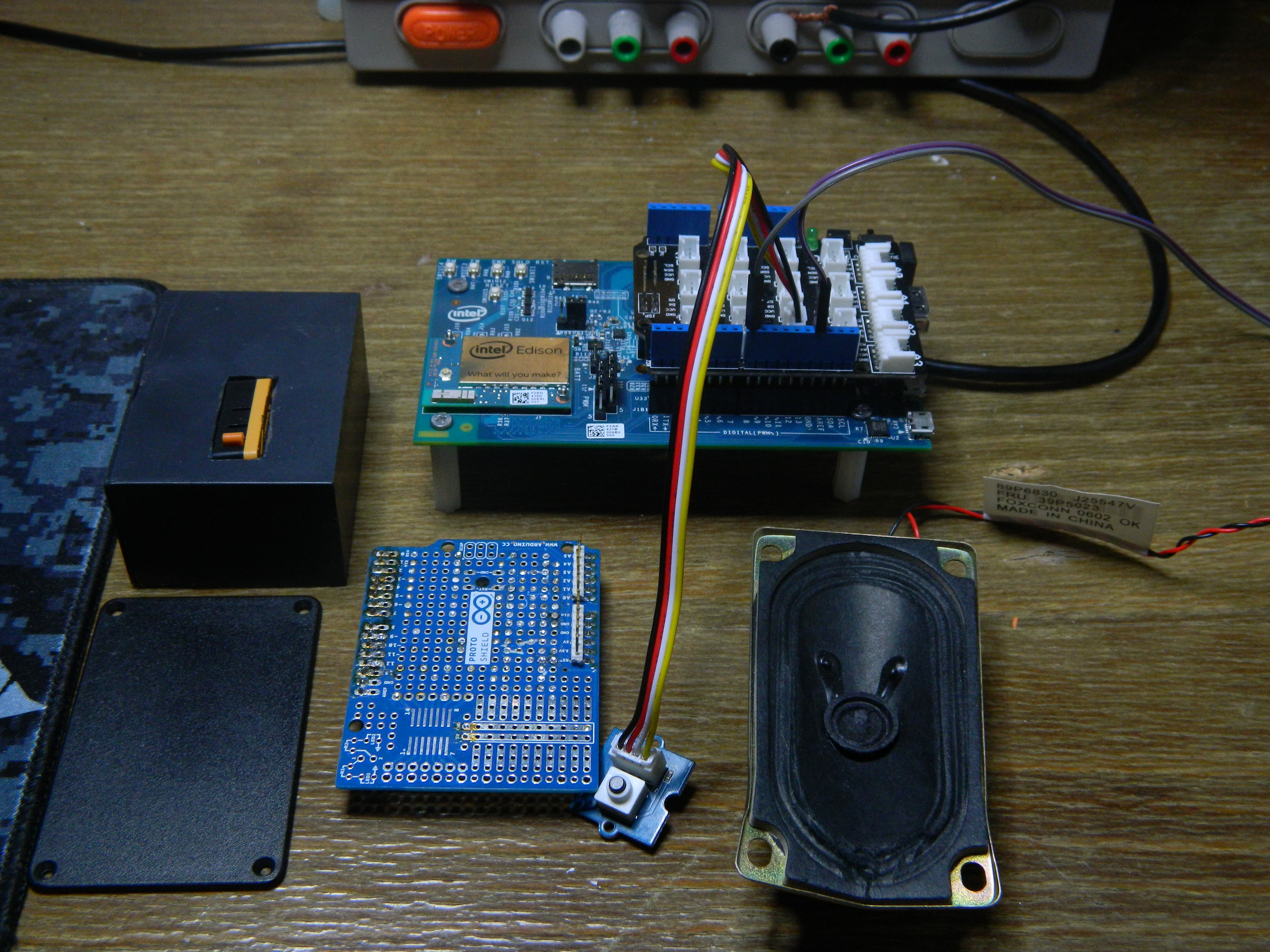 Picture of Components and Prototype