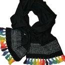 Hand Dyed Rainbow Tassel Scarf