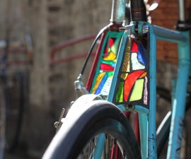 How to make a stained glass bike light