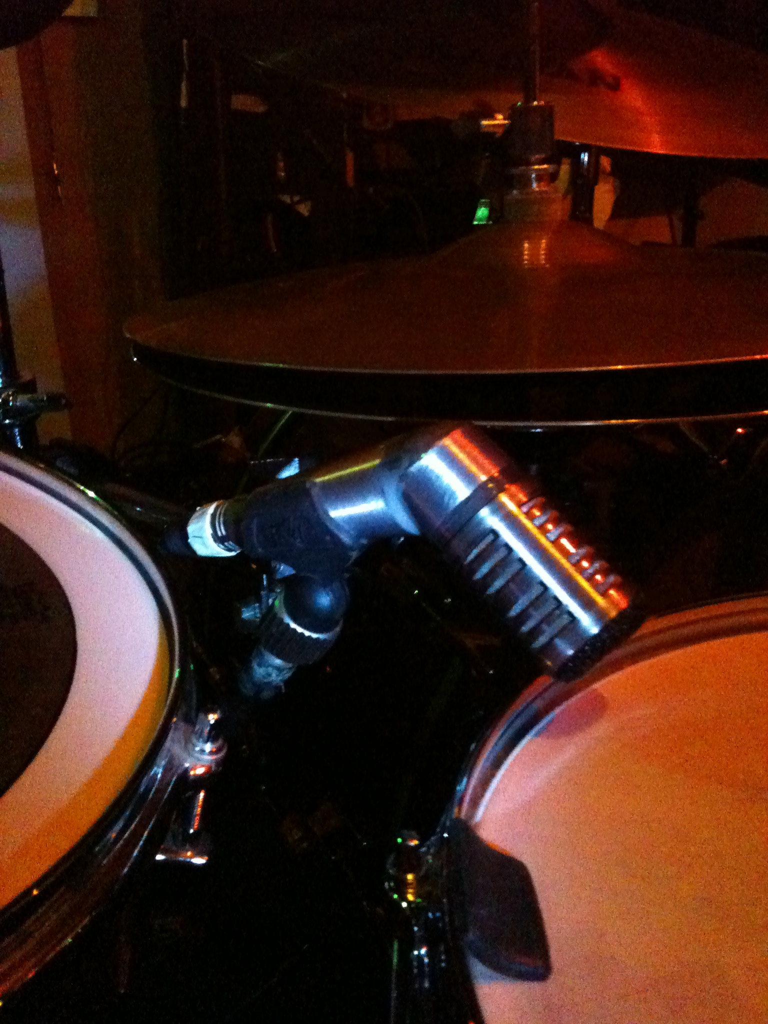 """Picture of """"45 Degree Snare Mic"""" JBWeld Hack"""