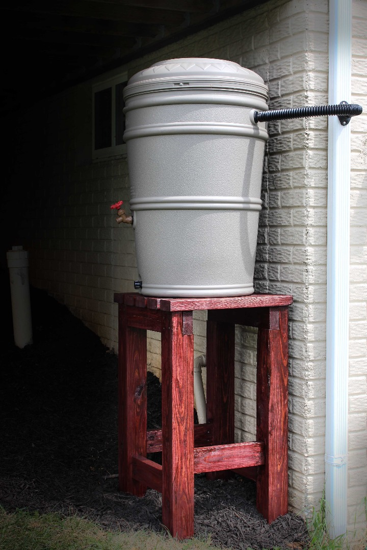 Picture of Rain Barrel Stand and Installation