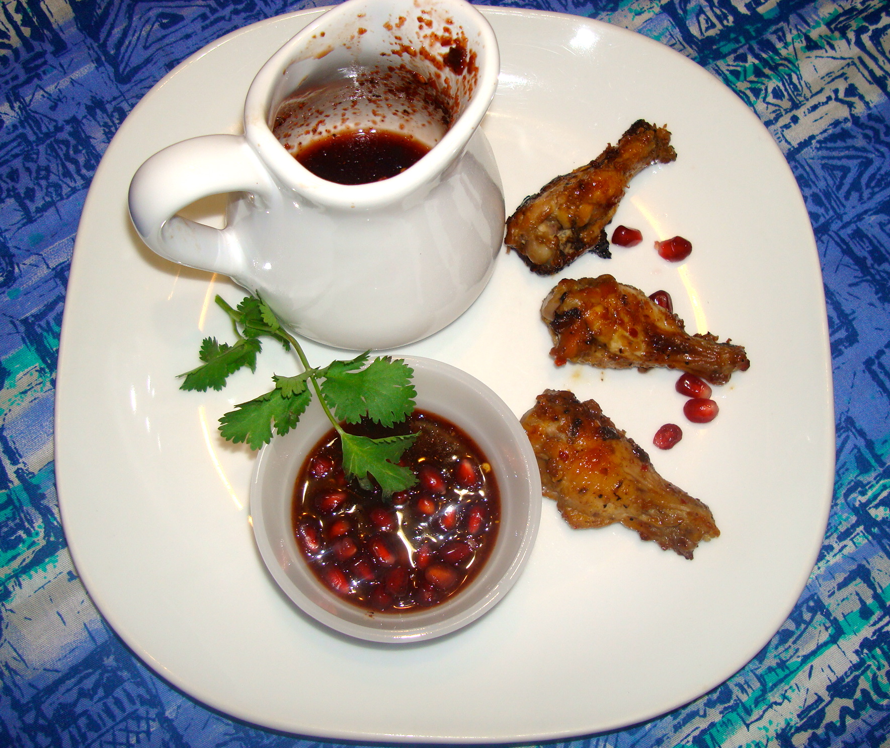 Picture of Sweet and Spicy Pomegranate Chicken  Drumettes