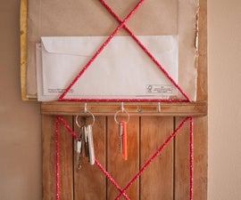 Key & Letter Holder made from a Reclaimed Toboggan