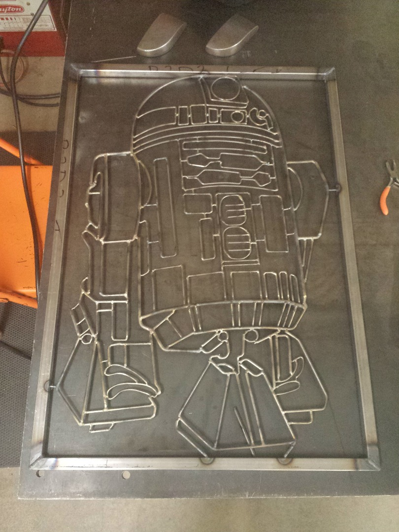 Picture of Weld the Frame and Attach R2D2