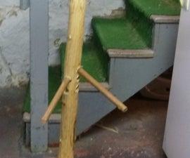 how to make a eskrima stick fighting dummy