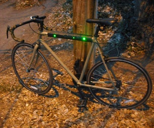 Flashing LED Top Tube Pad for Your Bike