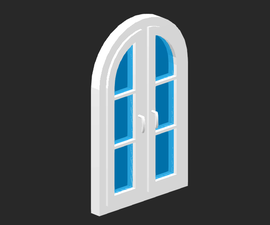 SelfCAD: Rounded Window Modeling 2