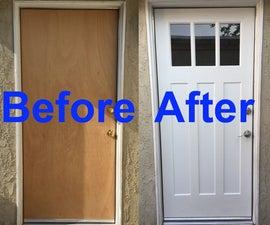 Plain Solid Core Door to Fabulous Door Makeover