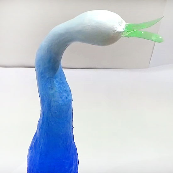 Picture of Let's Paste the Clay on the Bird's Face & Color It!