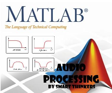 Audio signal processing using filters (LP, HP, BP, BS)