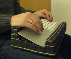 Ergonomic Polystyrene Keyboard and Trackpad Holder