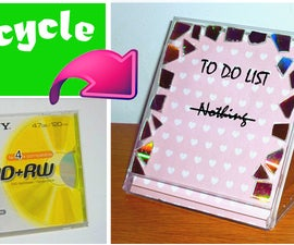 DIY - Dry erase TO DO LIST out of a CD box! (Recycling project)