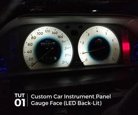 Customized Car Instrument Cluster Gauge Face