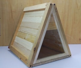 Triangle Wooden Pet House