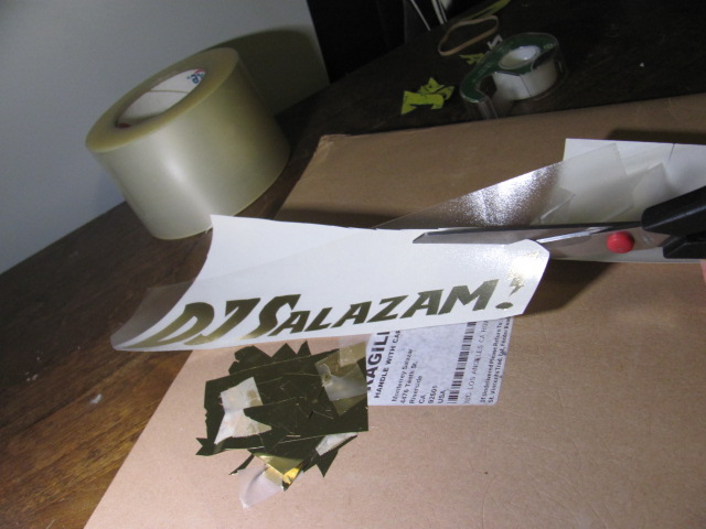 Picture of Add Transfer Tape and Trim