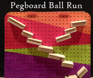 Pegboard Ball Run